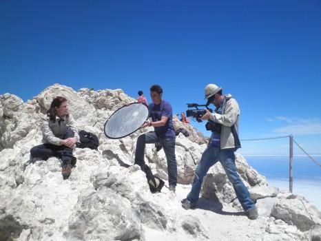 Blogueros y periodistas nacionales conocen la oferta volcánica de la Isla
