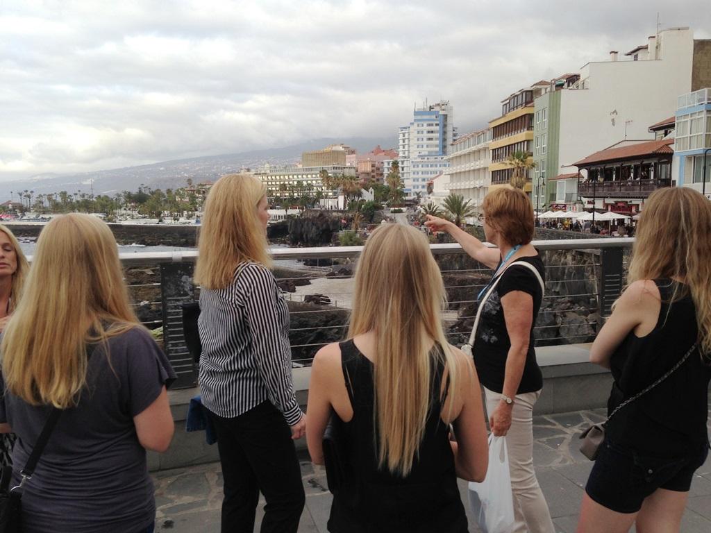Visita de cinco agentes de viajes de Hamburgo a Tenerife