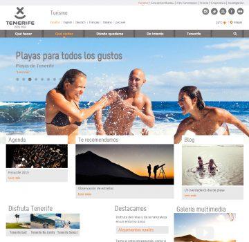 Nueva web turística de Tenerife