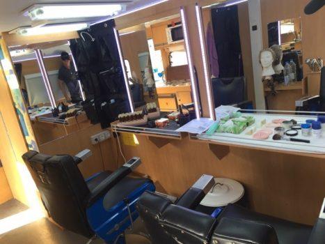 Caravana de maquillaje en alquiler de Seven Islands Film