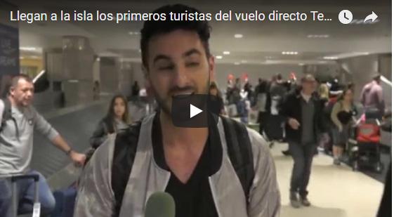 VIDEO: Tenerife da la bienvenida a los pasajeros  del primer vuelo procedente de Tel Aviv