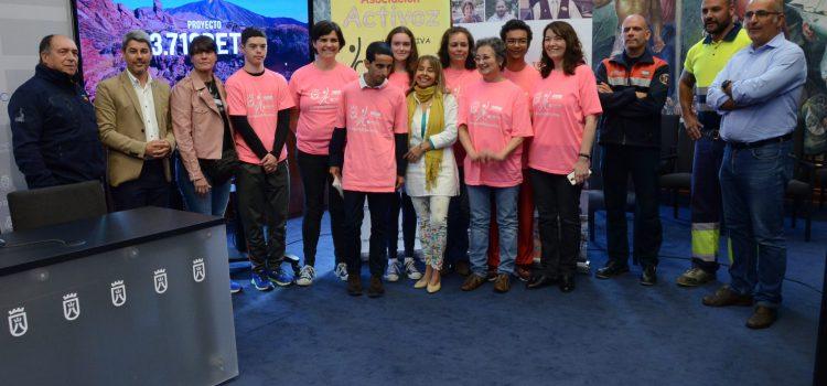 El Cabildo colabora con la expedición '3.718 retos' en  la que participan 15 jóvenes con diversidad funcional