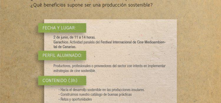 """Taller """"Producciones audiovisuales sostenibles"""""""