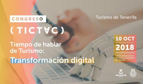 Turismo de Tenerife organiza en octubre un congreso  sobre la transformación digital aplicada al turismo