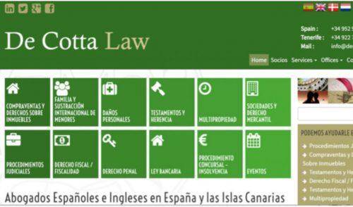Presentamos un nuevo Asociado a Turismo de Tenerife: DE COTTA LAW