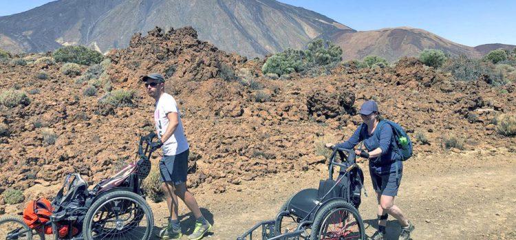 Un nuevo grupo de personas con discapacidad física de U/Turn de Bélgica ya se ejercita en la Isla