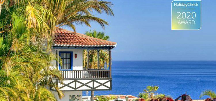 El Hotel Jardín Tecina se alza con el prestigioso galardón HolidayCheck Award 2020