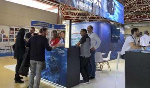 Tenerife promociona el buceo y la apnea en el Mediterranean Diving de Barcelona