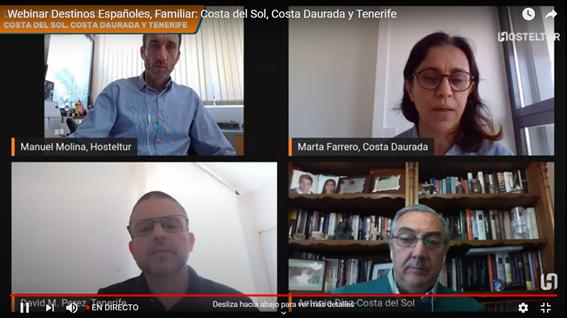 Tenerife participa en una sesión sobre destinos de turismo familiar junto con Costa del Sol y Costa Dorada