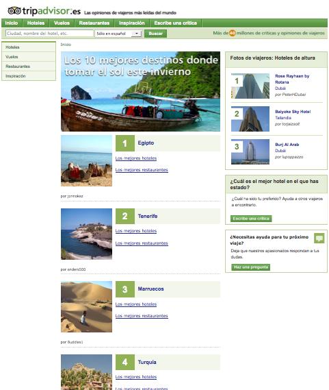Tenerife, segundo mejor destino de sol  para este invierno según los usuarios de Tripadvisor