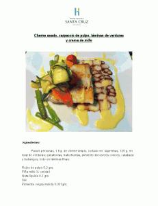 Restaurante Hotel Escuela Santa Cruz - Cherne asado