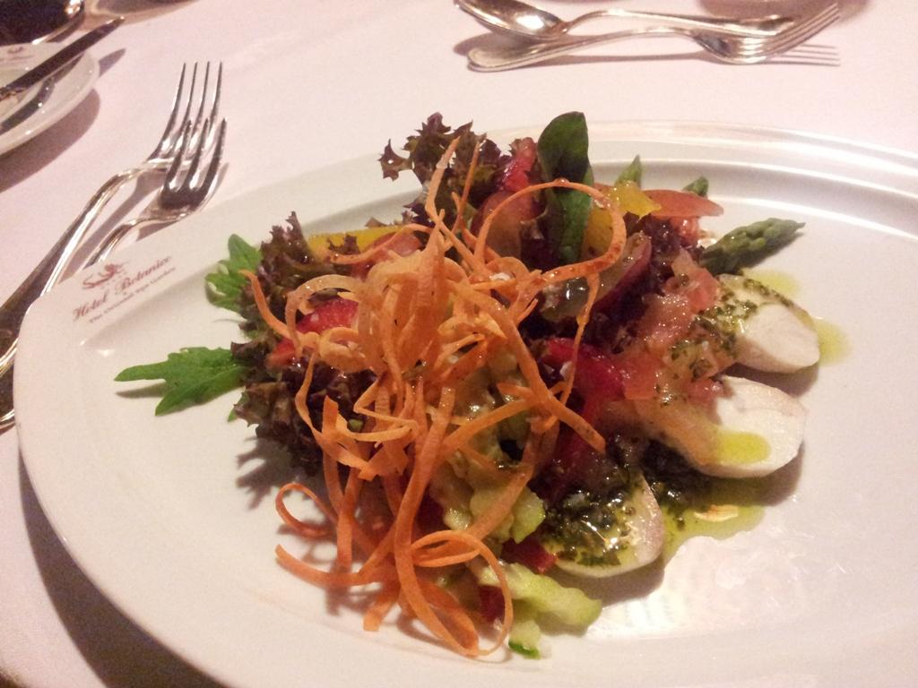 Plato del menú degustación del restaurante La Parrilla