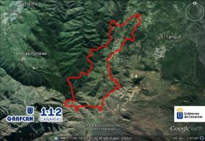 Mapa Perimetro Incendio Tenerife Agosto 2012