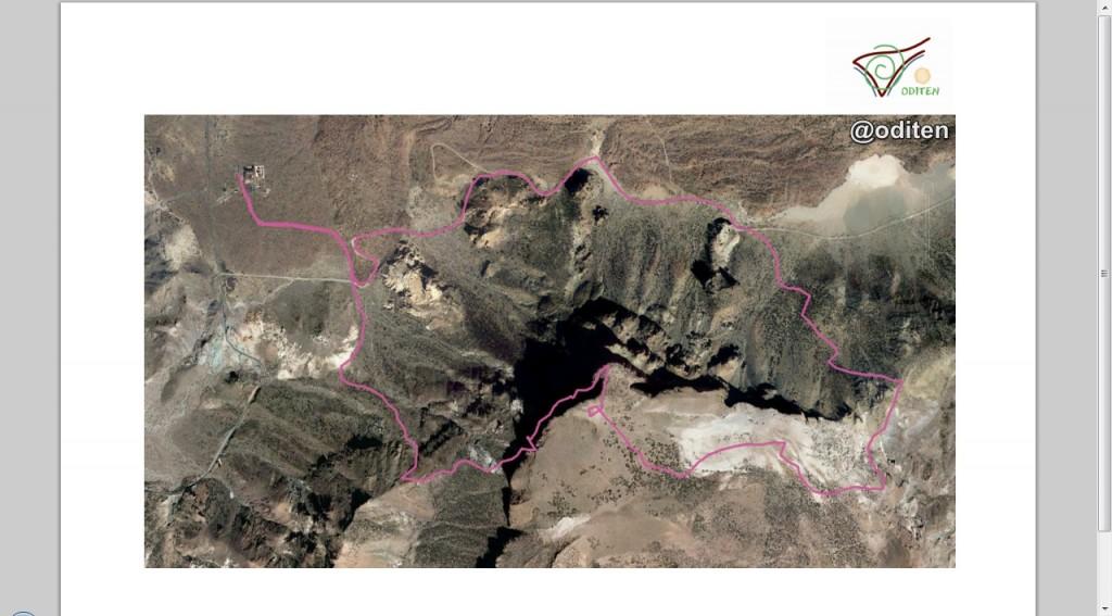 Mapa-ruta-Parador-del-teide-Montaña-Guajara