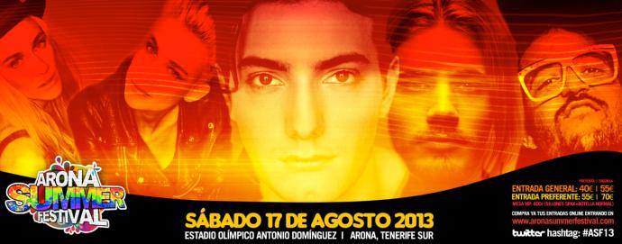 lineup-Arona-summer-fest-2013-Tenerife