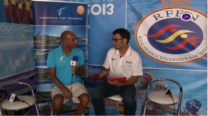 Entrevista a Tomás Barreda en Barcelona duranteMundial Natación 2013