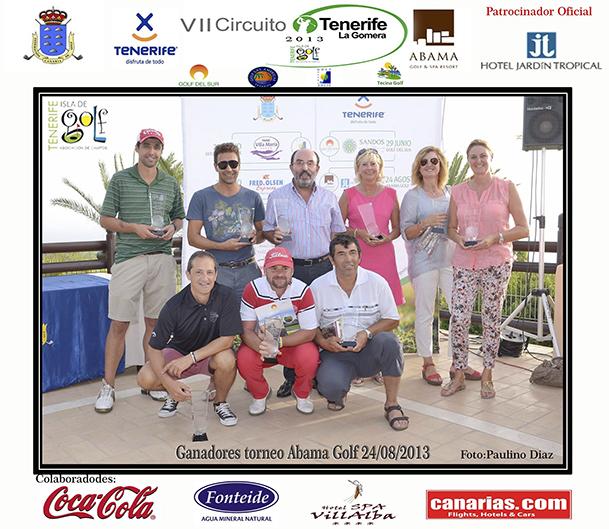 la foto ganadores golf Gomera
