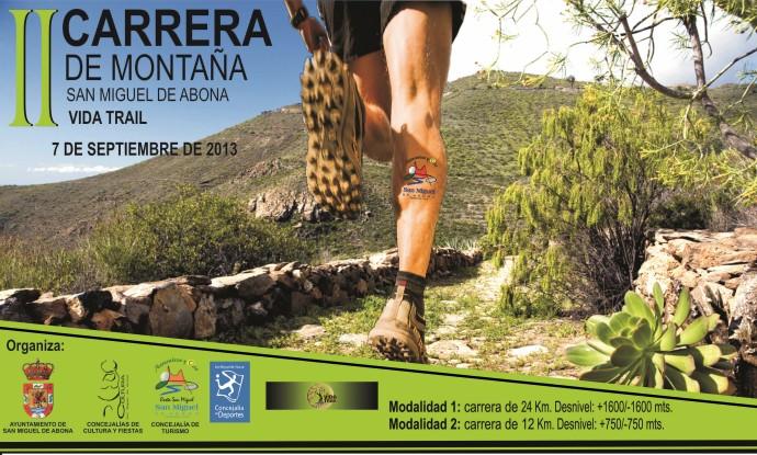 Carrera de montaña Vida Trail 2013 en San Miguel