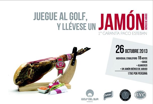cartel torneo del jamon golf del sur 26 octubre