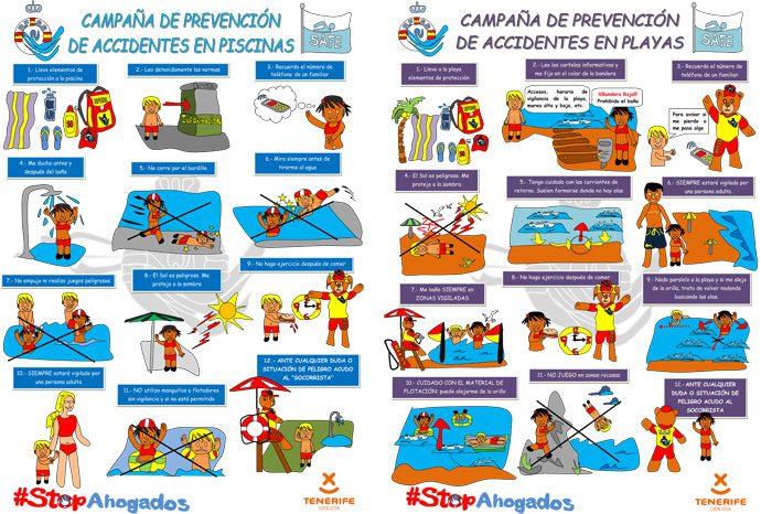 Turismo de Tenerife se suma a la campaña para la prevención de  accidentes en instalaciones acuáticas