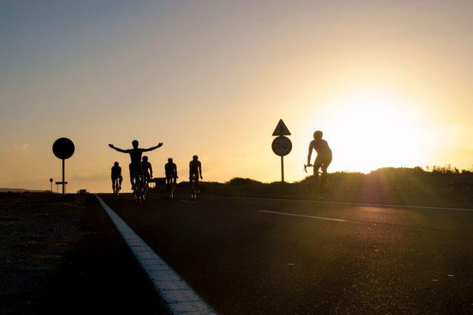 Ciclistas Tenerife Carretera